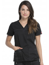 "Blouse Médicale Femme, Dickies, Collection ""GenFlex"" (817455) noir face"