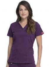 "Blouse Médicale Femme, Dickies, Collection ""GenFlex"" (817455) aubergine face"
