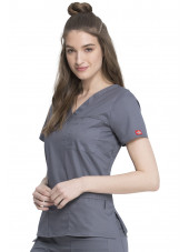 "Blouse Médicale Femme, Dickies, Collection ""GenFlex"" (817455) gris moyen face"