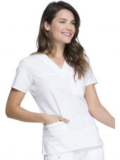 "Blouse Médicale Femme, Dickies, Collection ""GenFlex"" (817455) blanc face"