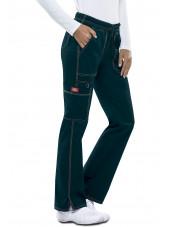 "Pantalon Médical Femme Cordon, Dickies, Collection ""GenFlex"" (DK100) vert caraibe face"