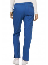 "Pantalon Médical Femme Cordon, Dickies, Collection ""GenFlex"" (DK100) bleu royal dos"