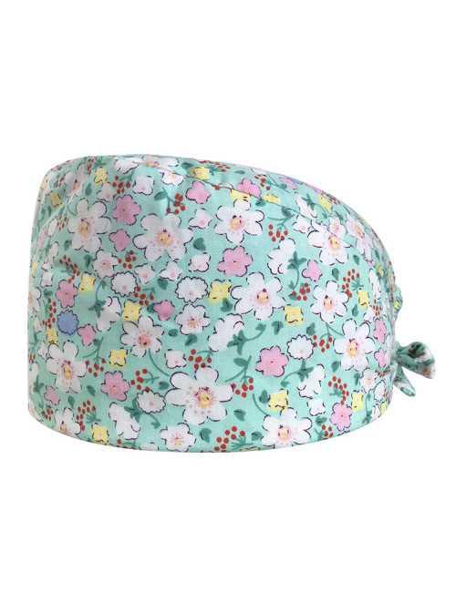 "Medical cap ""Green Flowers"" (209-12011)"