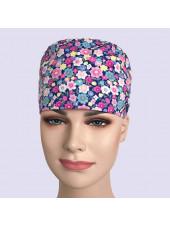 """Calot médical """"Fleurs bleues"""" (209-001) vue profil"""
