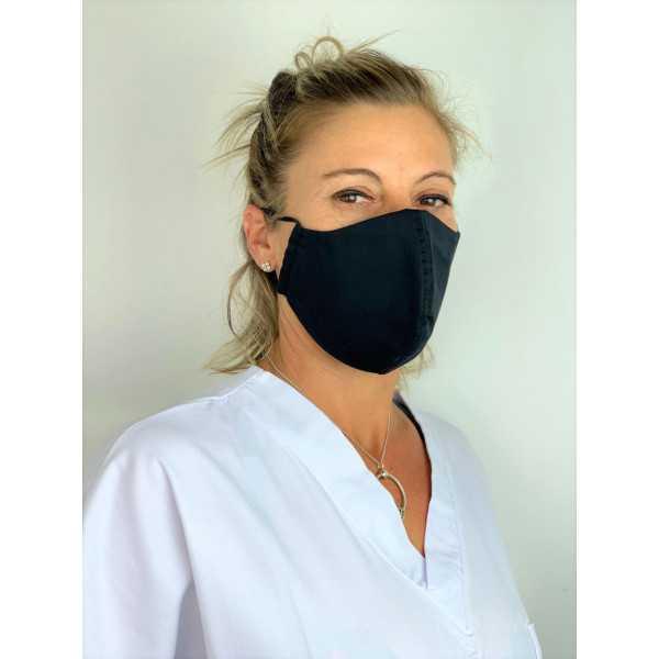 Lot 3 - Masque adulte de protection Antimicrobien (CR500X) modele noir