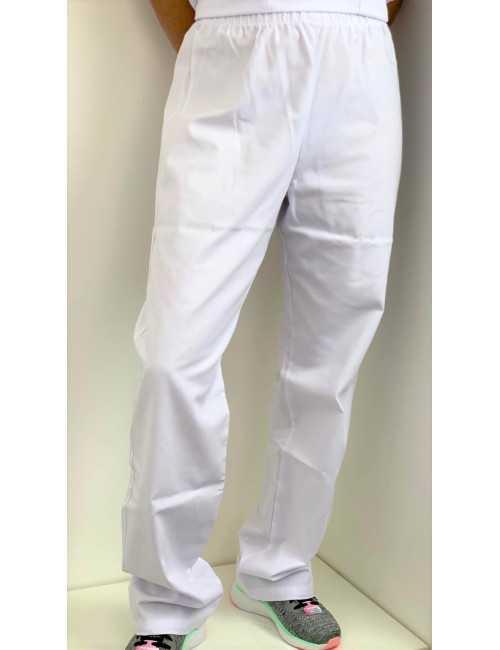 Pantalon médical blanc Unisexe, Lavage 60 degrés (CH11)