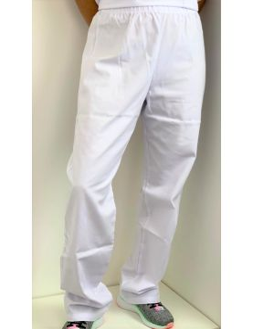 Pantalon médical blanc Poly/Coton Unisexe, CMT (PANT01-CMT)