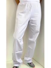 Pantalon médical blanc Unisexe, Lavage 60 degrés (CH11) vue modele