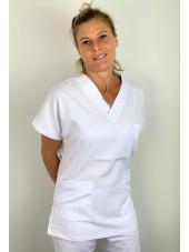 Blouse médicale blanche Lavage 60 degrés (BLOUSE01-CMT)