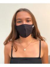 Lot 3 - Masque enfant de protection Antimicrobien (CR500Y) ado noir face