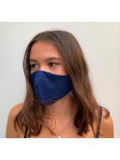Lot 3 - Masque enfant de protection Antimicrobien (CR500Y) ado bleu gauche