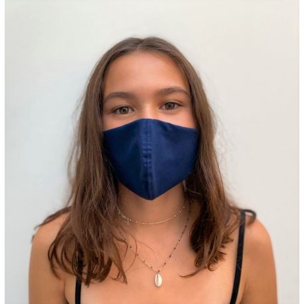 Lot 3 - Masque enfant de protection Antimicrobien (CR500Y) ado bleu face