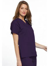 Blouse médicale Femme, 2 poches, Cherokee Workwear Originals (4700) aubergine droite