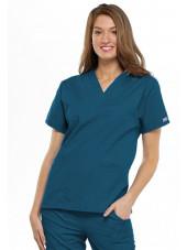 Blouse médicale Femme, 2 poches, Cherokee Workwear Originals (4700) vert caraibe face