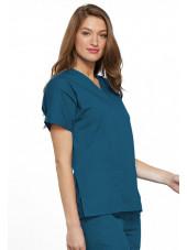 Blouse médicale Femme, 2 poches, Cherokee Workwear Originals (4700) vert caraibe gauche