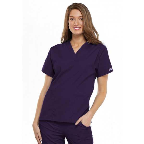 Blouse médicale Femme, 2 poches, Cherokee Workwear Originals (4700) aubergine face
