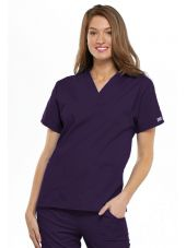 Blouse médicale Unisexe, 2 poches, Cherokee Workwear Originals (4700) aubergine face