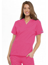Blouse médicale Femme, 2 poches, Cherokee Workwear Originals (4700) rose face