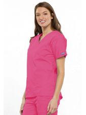 Blouse médicale Femme, 2 poches, Cherokee Workwear Originals (4700) rose droite