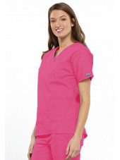 Blouse médicale Unisexe, 2 poches, Cherokee Workwear Originals (4700) rose droite