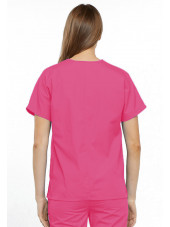 Blouse médicale Unisexe, 2 poches, Cherokee Workwear Originals (4700) rose dos