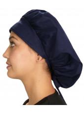 "Calot médical Cheveux Mi-Longs ""Bleu marine"" (214-1034) vue gauche"