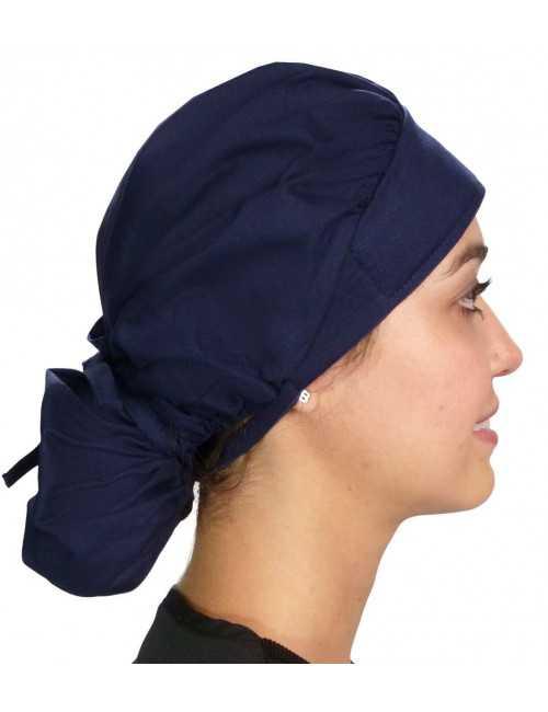 "Calot médical Cheveux Mi-Longs ""Bleu marine"" (214-1034)"