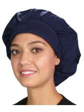 """Calot médical Cheveux Mi-Longs """"Bleu marine"""" (214-1034) vue modèle"""