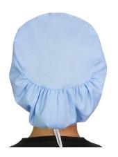 """Calot médical Cheveux Mi-Longs """"Bleu ciel"""" (218-1134) vue dos"""