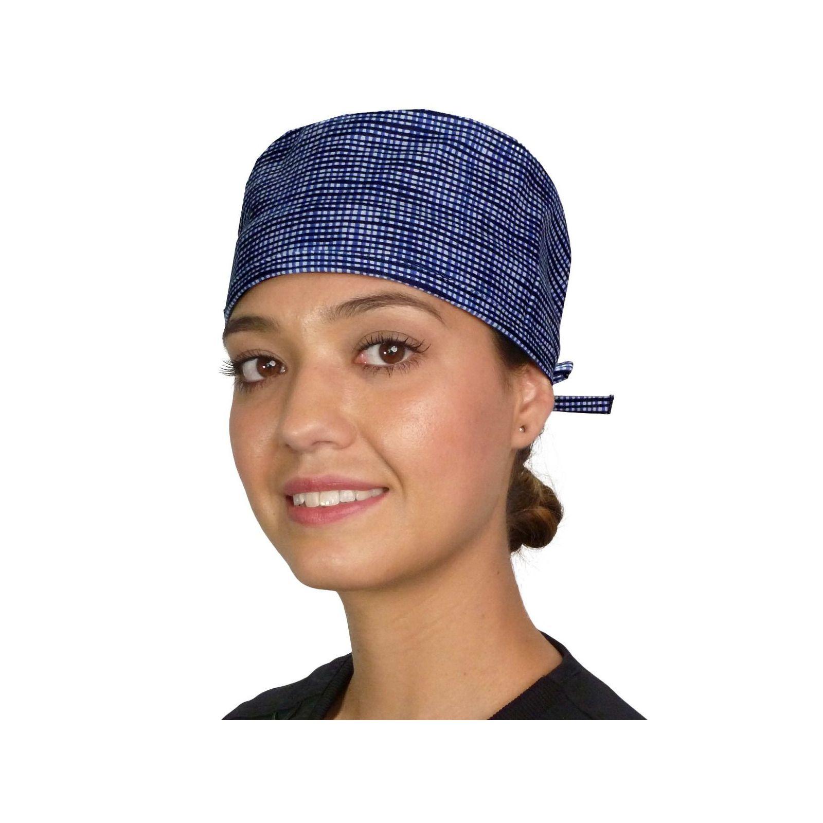 "Calot médical ""Hashtag bleu"" (210-8825) vue face"