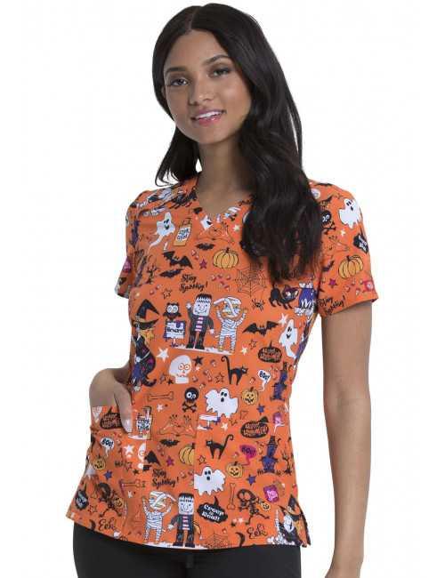 Blouse médicale Imprimée Femme Halloween, Dickies (DK616)