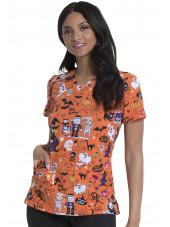 Blouse médicale Imprimée Femme Halloween, Dickies (DK616) vue face