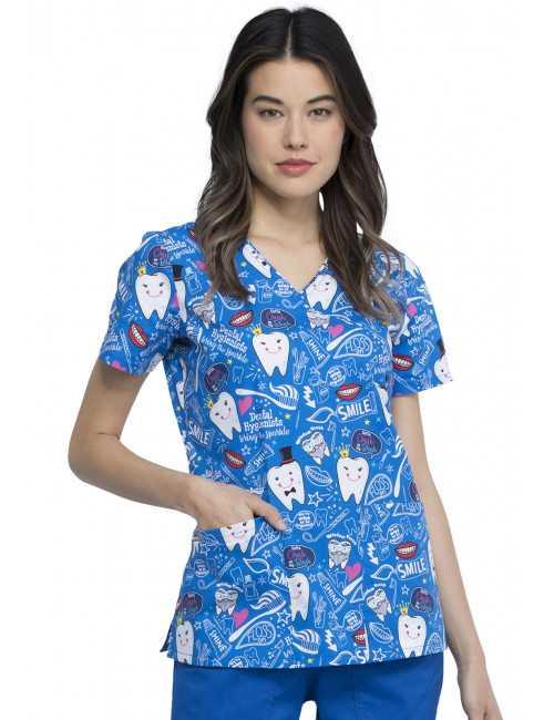 """Printed Medical Gown Female """"Dentist"""", Cherokee (CK614)"""