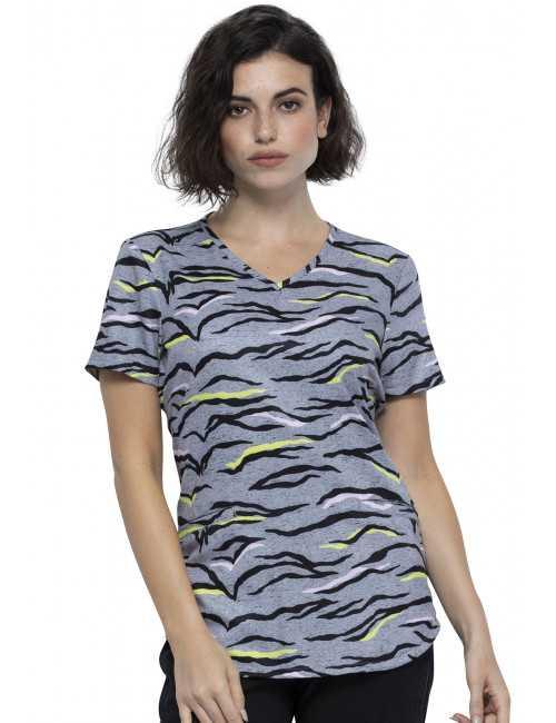 "Woman's Printed Medical Gown ""Zebra"", Cherokee (CK637)"