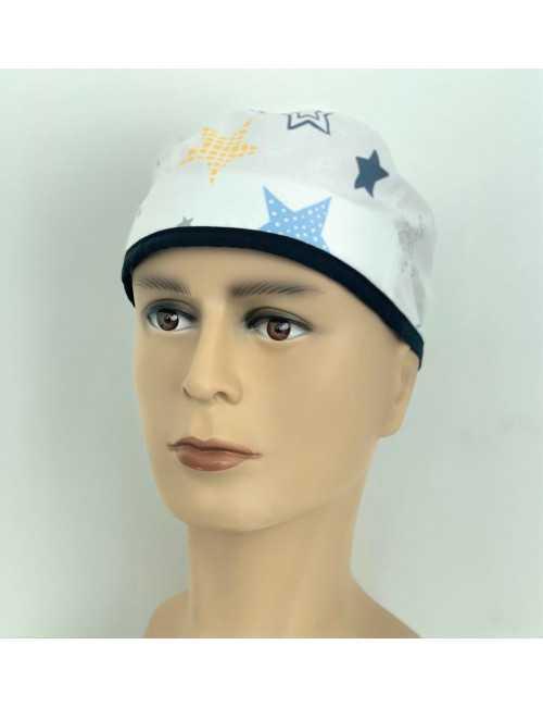 "Medical cap ""Stars white background"" (210-9998)"