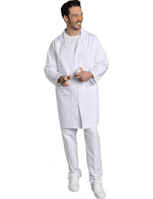 Blouse médicale Homme blanche manches courtes Poly/Coton Oscar, SNV (OSCARMC000)