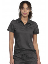 "Blouse médicale Femme Col polo, Cherokee, Collection ""Revolution"" (WW698) couleur gris anthracite vue face"
