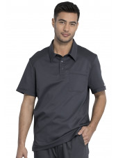 "Blouse médicale Homme Col polo, Cherokee, Collection ""Revolution"" (WW615) gris anthracite face"
