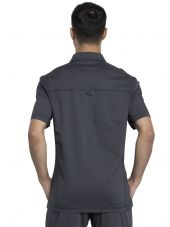 "Blouse médicale Homme Col polo, Cherokee, Collection ""Revolution"" (WW615) gris anthracite dos"