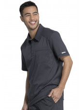 """Blouse médicale Homme Col polo, Cherokee, Collection """"Revolution"""" (WW615) gris anthracite droite"""