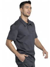"Blouse médicale Homme Col polo, Cherokee, Collection ""Revolution"" (WW615) gris anthracite gauche"