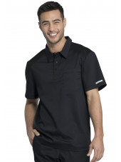 "Blouse médicale Homme Col polo, Cherokee, Collection ""Revolution"" (WW615) noir face"