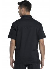 "Blouse médicale Homme Col polo, Cherokee, Collection ""Revolution"" (WW615) noir dos"
