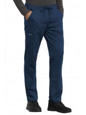 "Pantalon médical Unisexe élastique, Cherokee, Collection ""Revolution"" (WW020) bleu marine gauche"