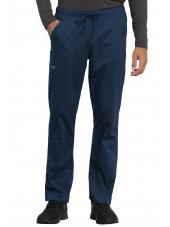 """Pantalon médical Unisexe élastique, Cherokee, Collection """"Revolution"""" (WW020) bleu marine face"""