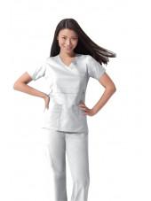 "Blouse médicale Femme Dickies, collection ""GenFlex"" (817355) blanc"
