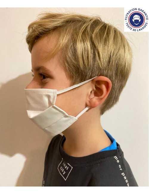 Pack de 5 - Masque Lavable et Réutilisable Enfant Catégorie 1 Catégorie 1 (MASQUE-ENF)