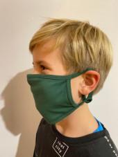 Pack de 5 - Masque Lavable Antimicrobien Adulte et Enfant Vert Catégorie 1 (PR799-HUN) vue enfant coté