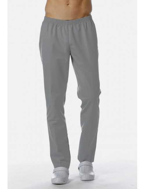 Pantalon Médical Gris, Unisexe, Taille élastique, Camille Lavandie (078VGR) vue homme