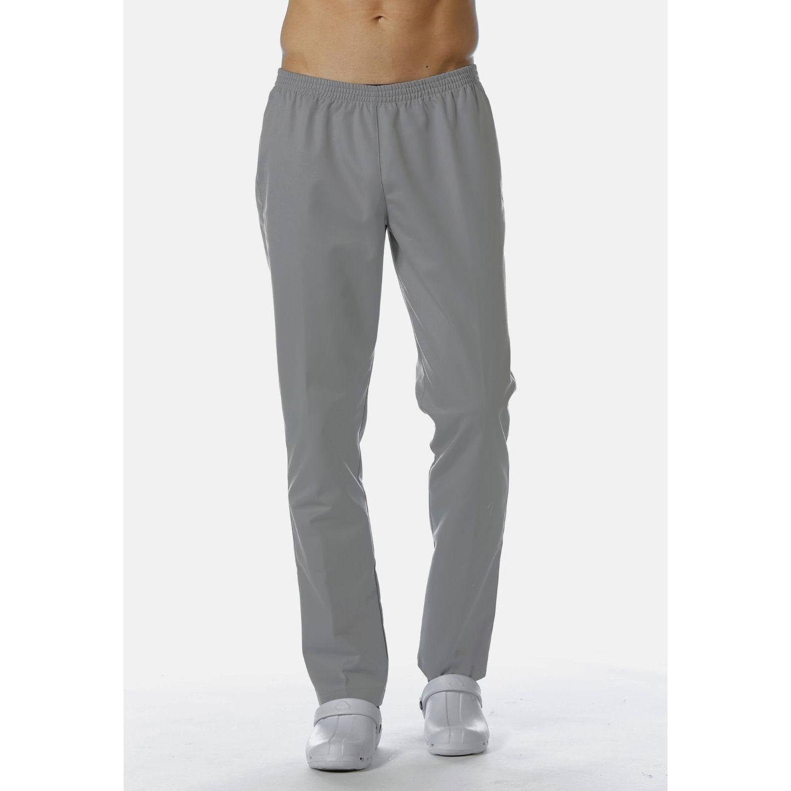 Pantalon Médical Gris, Unisexe, Taille élastique, Camille Lavandie (078VGR)